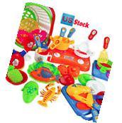 35pcs Plastic Kids Children Kitchen Utensils Food Cooking