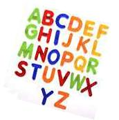 BCP set of 26 pcs Plastic Magnetic Uppercase Letters