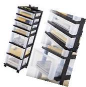 Plastic Storage Cabinet 7 Drawer Rolling Cart Organizer