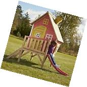 Play House for Kids With Slide Hide Toddler Indoor Outdoor