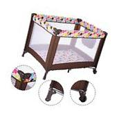 Playard Baby Crib Bassinet Travel Portable Bed Playpen