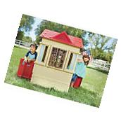 Kids Outdoor Playhouse Children Backyard Toy Play House Cape