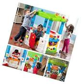Kids Playhouse + 10-Ball +Dishes House Toddler Girls Boys Drop Rolling Toy Step2