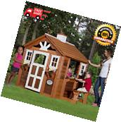 Kids Outdoor Playhouse Childrens Wood Play House Yard
