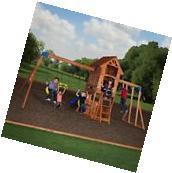 Garden Swing Set Outdoor Playset Play House Ground Back Yard