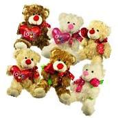 "Plush Teddy Bear w/ Embroider ""I Love You"" Heart 12"