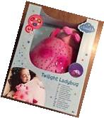NEW- Cloud B Twilight Ladybug Pink Plush Toy Night Light