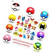 24 x Pokemon Go Action Figures with 9x Poke ball Pikachu Pop