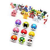 9pcs Pokemon Pokeball+24pcs Action Figures Random Cosplay