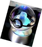 Pokemon Snorlax Pokeball Crystal K9 3D Laser Engraved Led
