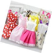 POP 10Pcs Fashion Handmade Dresses Clothes For Barbie Doll