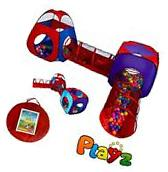 Play Tent Tunnel for Kids/Children, 2 Pop Up Crawl Tunnels