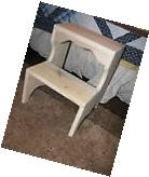 Poplar Wood  Bed Step Stool, Handcrafted, Kitchen Aid Help