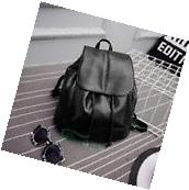Popular Women Leather Backpack Rucksack Travel School Bag