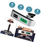 LCD Digital Portable 50kg/10g Hanging Luggage Scale Travel