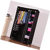 "69"" Portable Closet Storage Organizer Clothes Wardrobe Shoe"