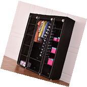 "70"" Portable Closet Storage Organizer Clothes Wardrobe Shoe"