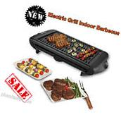 Portable Electric Grill Griddle Non Stick Barbecue Indoor