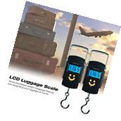 2PCS Portable 50kg LCD Digital Fish Hanging Luggage Weight