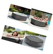 Portable Inflatable Hot Tub Spa 6 Person Heated Outdoor