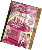 Xiong Cheng Portable Pink Electronic Kids Kitchen Cooking