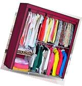 Portable Wardrobe Home Clothes Rack Shelves Closet Storage