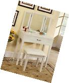 Furniture Of America Potterville White Vanity Table With