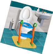 Kids Potty Training Seat with Step Stool Ladder for Child