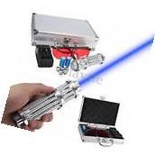 NEW High Power Laser Pointer Beam Pen 5 Head+Case+Battery+