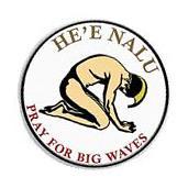 "PRAY FOR BIG WAVES 3"" Peel Back Sticker Hawaiian Surf"