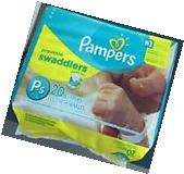 PAMPERS PACK PREEMIE SWADDLERS DIAPERS 6 LBS GREAT FOR