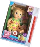 Baby Alive Pretty In Pigtails Doll Blonde Hair & Accessories