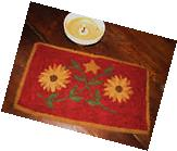 "PRIMITIVE RUG HOOKING KIT ON MONKS ~ ""EZZIE'S HAT"