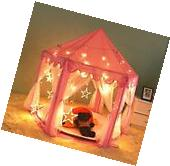 "Kids Princess Castle Girls Playhouse Play Tent 55""x 53"" Led"