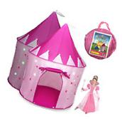 Princess Castle Play Tent for Girls with Glow in the Dark