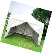 Quictent 10'X10'White Pyramid-roofed EZ Pop Up Party Tent