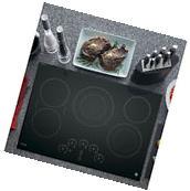 GE Profile Black Ceramic/Metal 30-inch Smoothtop Electric