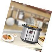 Programmable Pressure Instant Cooker Slow Rice Cook Pot, 6-