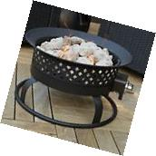 Outdoor Propane Fire Pit Portable Deck Patio Backyard