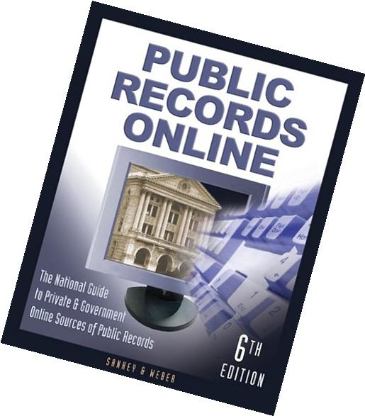 Public records master guide private goverment sources public records