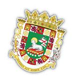 Puerto Rico Coat Of Arms Car Bumper Sticker Decal 4'' x 5