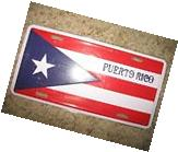 Puerto Rico Rican Lettering Aluminum License Plate Tag