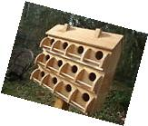PURPLE  MARTIN BIRD HOUSE 12 SEPARATE COMPARTMENTS  RED