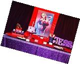 TRLYC 60 105 Purple Sequin Table Cloth For Wedding Party