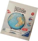 Ravensburger Puzzle Ball 3D Globe with Stand, 540 Pieces,