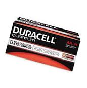 NEW DURACELL QUANTUM AA ALKALINE BATTERIES SEVENTY-TWO   PER