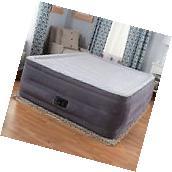 "22"" QUEEN DURA-BEAM RAISED AIR MATTRESS Bed Inflatable Pump"
