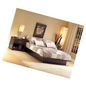 Queen Size Platform Bed Frame  Bedroom Wood Furniture