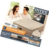 Intex Queen Raised Ultra Plush Fiber Tech Air Bed Camping
