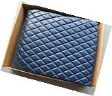 Fabricon Quilted Leather 7' Pool Table Cover Navy